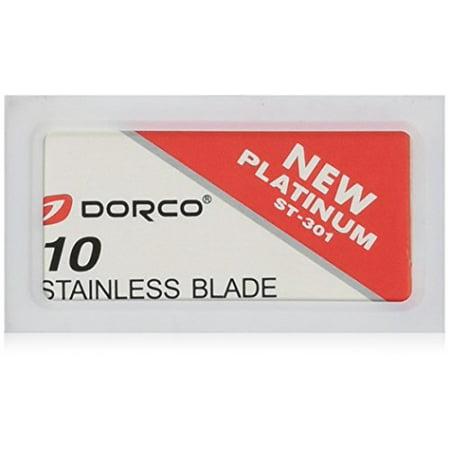 Dorco ST301 Platinum Extra Double Edge Razor Blades - 10 Ct (Razor Blade Halloween Candy)