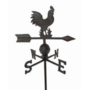 Antiqued Finish Cast Iron Rooster Weathervane Garden Stake