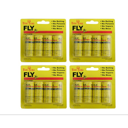 PaZinger 16PCS Fly Paper Strips, Fly Catcher Trap, Fly Ribbon, Fly Bait,Fly Trap, Super Value ()