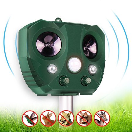 Solar Ultrasonic Animal Repeller, KCASA Solar Battery Powered Ultrasonic Animal Pest Repeller Bird Dog Insect Control Rodent Repellent with Motion Sensor for Garden Patio - image 1 of 10