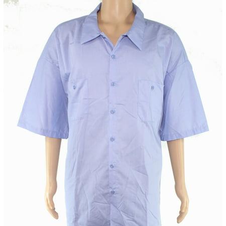 Mens Short Sleeve Button Front Dual Pocket Work Shirt - Dual Front Pocket