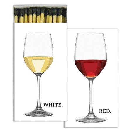 HomArt - Match Box Set of 2 - Red Wine & White Wine - Black (Wine Matches)