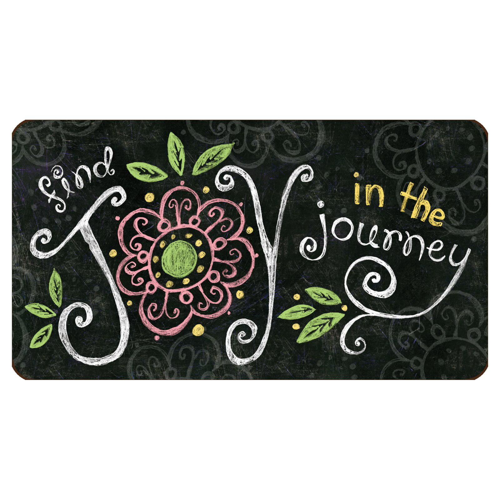 Toland Home Garden Joy In The Journey Chalkboard Doormat Polyester