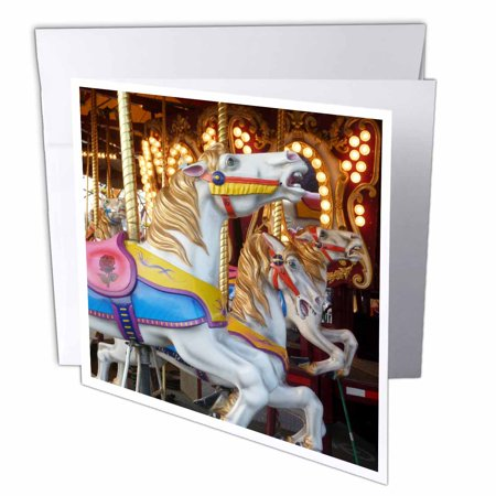 3dRose Vintage Carousel, Greeting Cards, 6 x 6 inches, set of 6