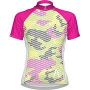 Primal Wear Mish Mesh Women's Cycling Jersey: White/Pink/Yellow, XL