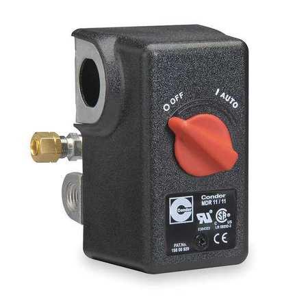 CONDOR USA, INC 11KC2E Pressure Switch, DPST, 140/175 psi