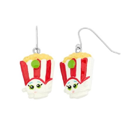 Shopkins Painted Poppy Corn Earrings + Schick Slim Twin ST for Dry Skin