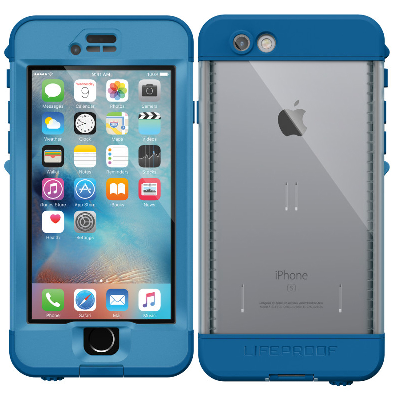 Blue WATERPROOF LifeProof Nuud Series Case For iPhone 6 Plus & 6S Plus