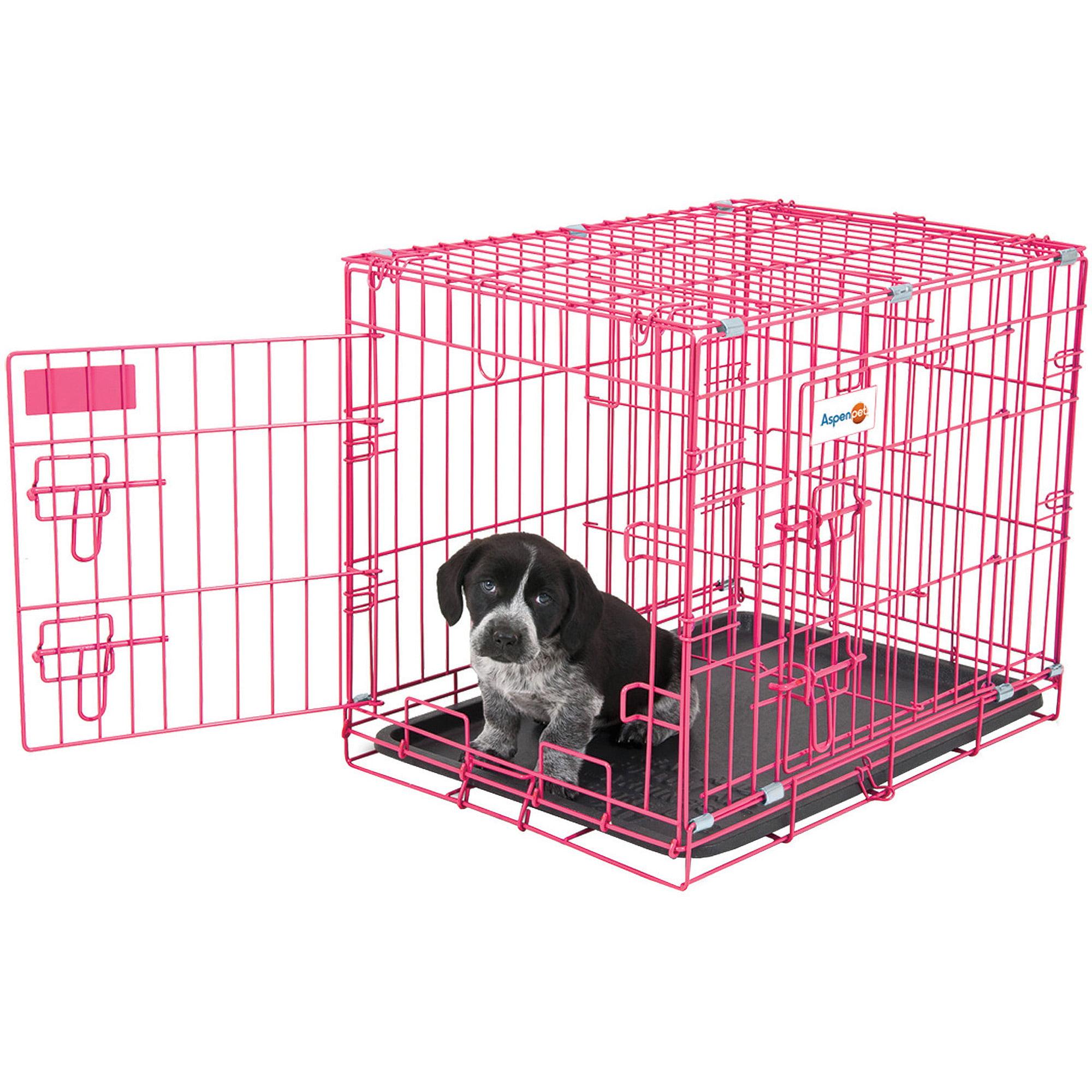 """Aspen Puppy 2-Door Training Retreat, 24"""", Pink"""