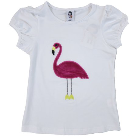 Wenchoice Girl'S White & Hot Pink Flamingo Tee XL(7Y-8Y)](Hot Xl Girl)