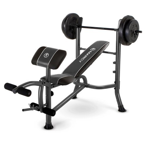 Marcy Standard Weight Bench with 80-lb. Weight Set