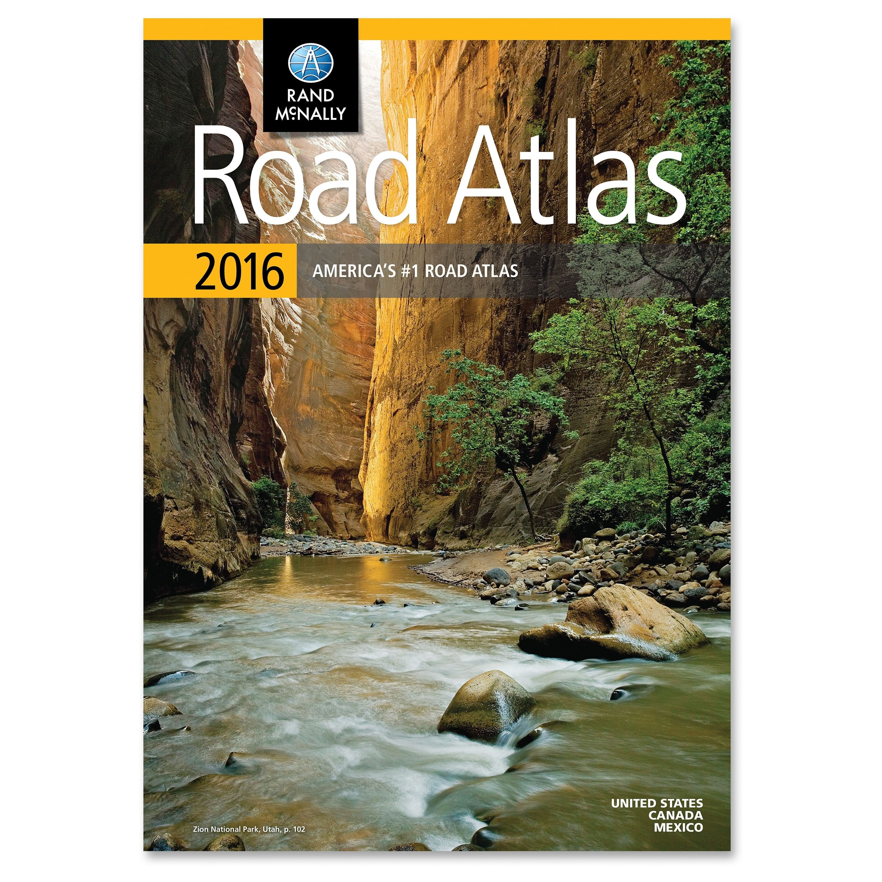"Rand Mcnally North American Road Atlas - North America - 10.88"" Width X 15.38"" Height (rm528013130)"