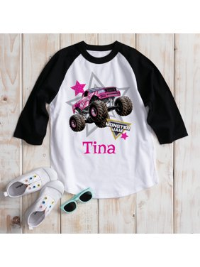 Personalized Monster Jam Look Out Boys Madusa Girls' Black Sports Jersey