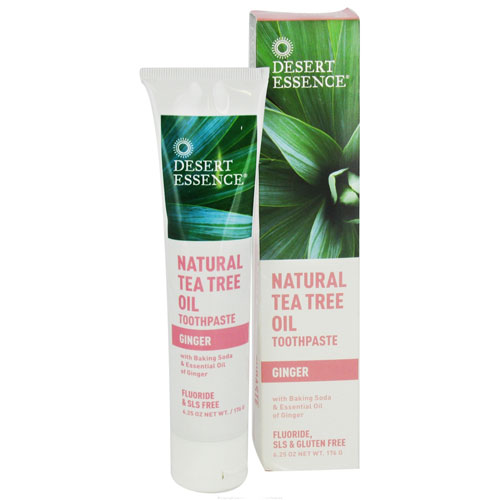 Desert Essence Natural Tea Tree Oil Toothpaste Ginger - 6.25 oz