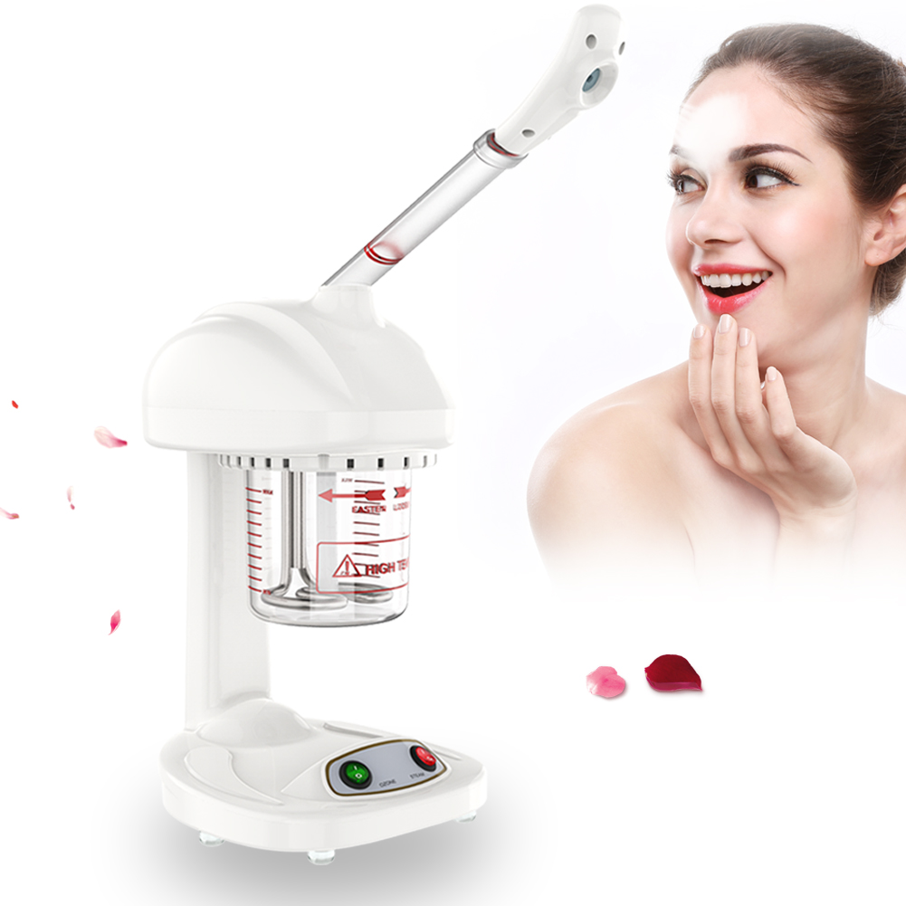 EECOO Advanced Ionic Spraying Machine Facial Steamer Salon Spa Ozone Steaming Skin Care Machine Ionic Spraying Machine Face Steamer