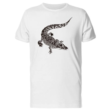 Crocodile Short (Crocodile In B&W Tee Men's -Image by Shutterstock)