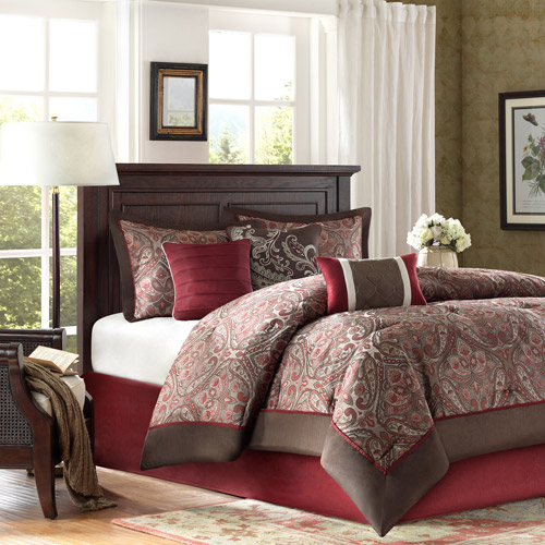 Home Essence Graham 7-Piece Jacquard Comforter Bedding Set