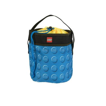 """LEGO 9"""" Storage Drawstring Bag Cinch Bucket - Blue"""