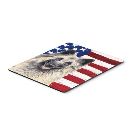 USA American Flag with Belgian Tervuren Mouse Pad, Hot Pad or Trivet