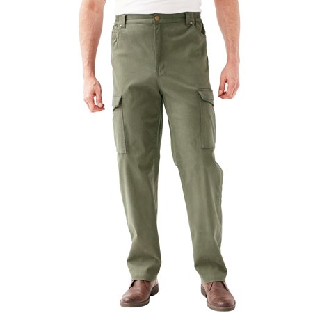 Kingsize Men's Big & Tall Flex Knit Cargo Pants Casual Pants