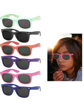 4 Pack Polarized Kids Toddler Sunglasses Boys Girls Stylish Frame Shades Glasses