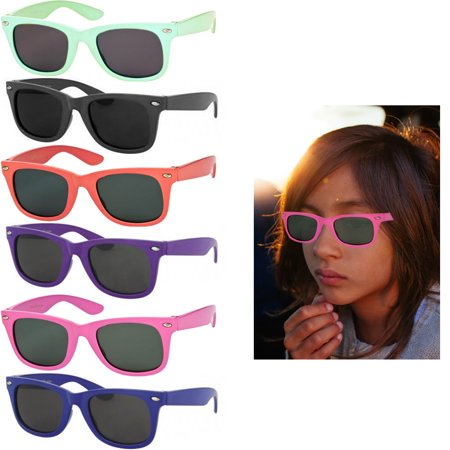 4 Pack Polarized Kids Toddler Sunglasses Boys Girls Stylish Frame Shades Glasses ()