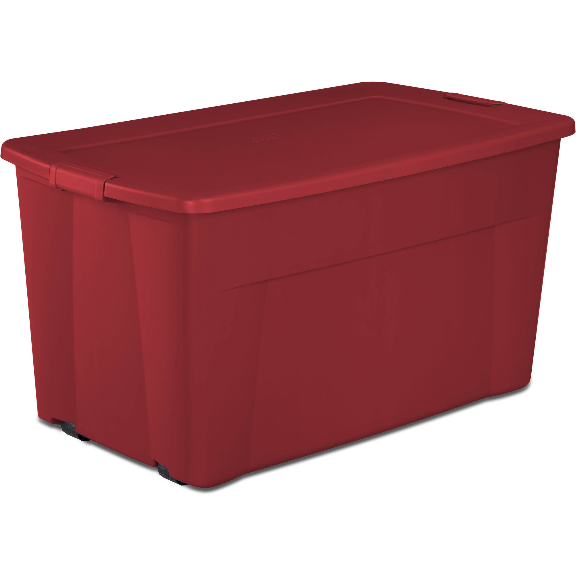 Sterilite 45 Gallon Wheeled Tote Box Red Available In Case Of 4 Or Single Unit