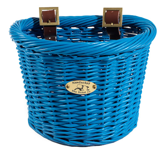 Buoy Collection Children's Bicycle Basket, Royal Blue