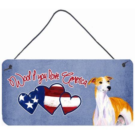 Woof if you love America Whippet Wall or Door Hanging Prints SS5045DS612