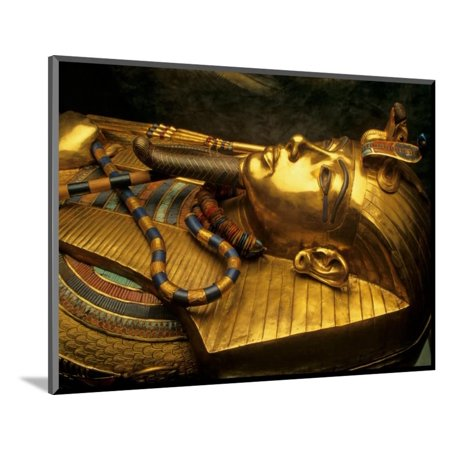 Valley of the Kings, Golden Coffin, Tutankhamun, Egypt Wood Mounted Print Wall Art By Kenneth Garrett](Wood Coffin)