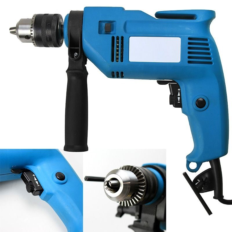 "GHP 0-3000/Min Revolution 600W 120V Steel Concrete 1/2"" Rotary Impact Hammer Drill"
