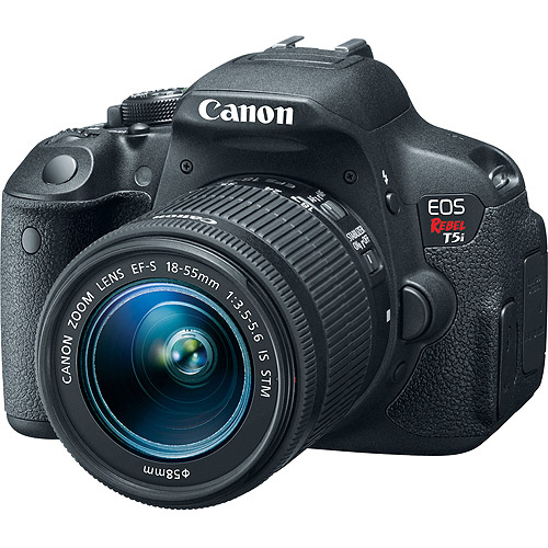 Canon Black EOS Rebel T5i Digital SLR with 18 Megapixels and 18-55mm Lens Included