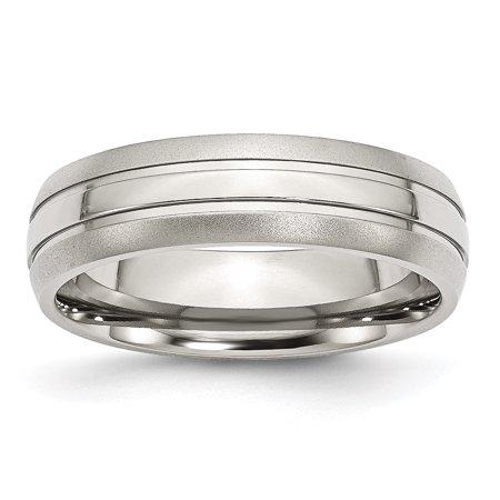 Stainless Steel Grooved 6mm Brushed Wedding Ring Band Size 10.50 Fashion Jewelry For Women Gifts For Her - image 1 of 9