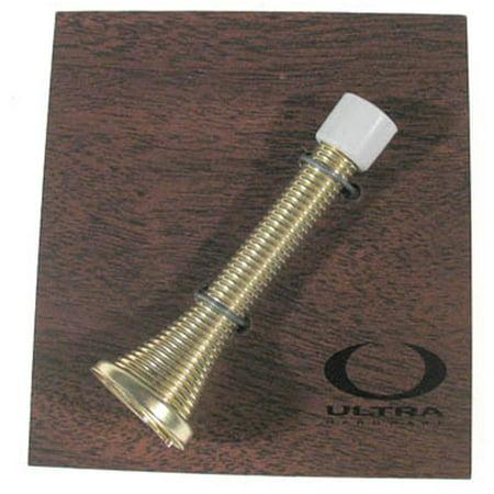 Ultra Hardware 70038 Brass Cone Shape Spring Door Stop