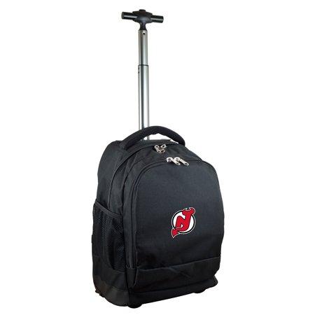 New Jersey Devils 19'' Premium Wheeled Backpack - Black - No