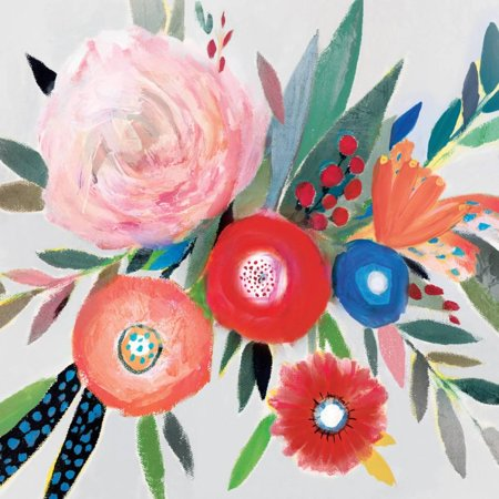 Circular Color Palette I Bohemian Floral Bouquet Colorful Flowers Print Wall Art By Isabelle Z