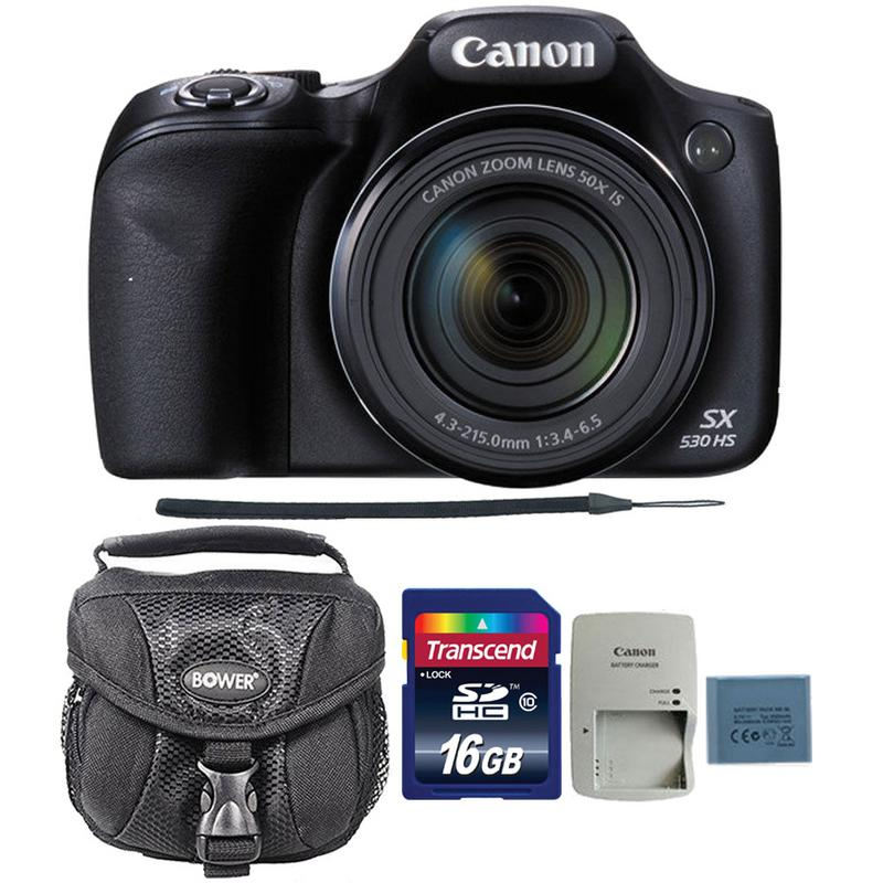 Canon PowerShot SX530 HS 16MP Digital Camera with 16GB Accessory Kit