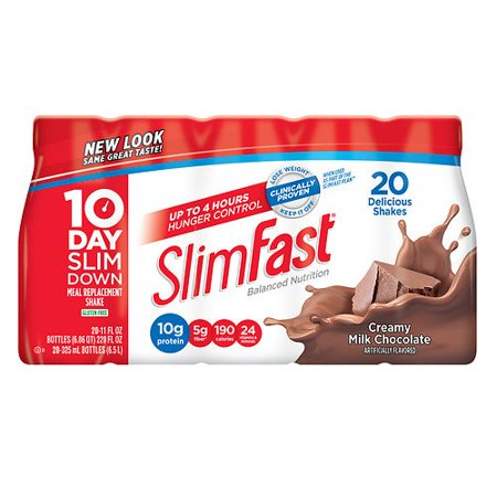 Slim-Fast Ready to Drink, 20 pk, Milk Chocolate 11 oz (Pack of 3)