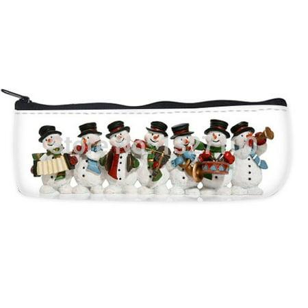 - POPCreation Winter Snowman School Pencil Case Pencil Bag Zipper Organizer Bag