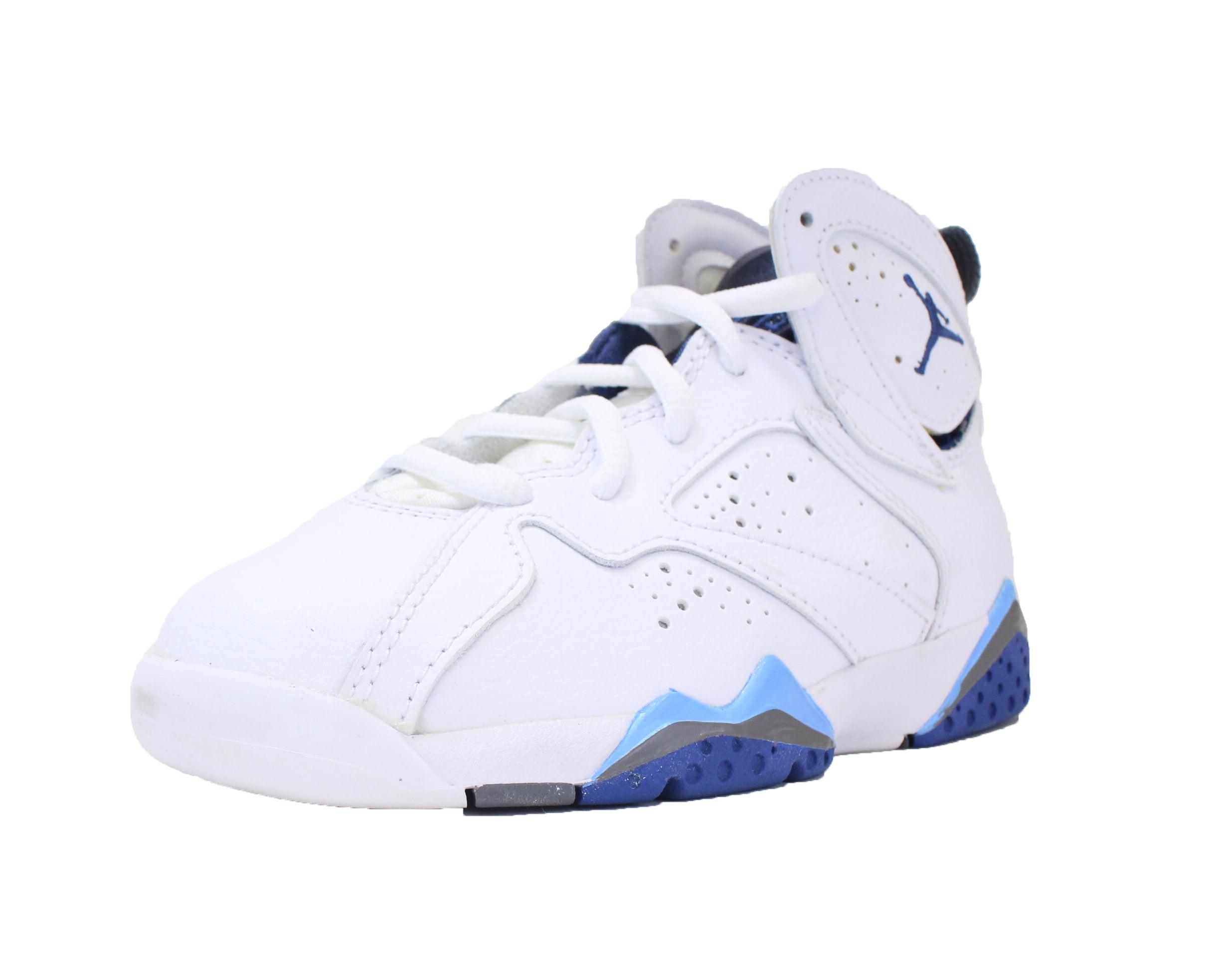 great fit 76446 9365e ... clearance air jordan 7 retro vii bp ps 13.5 c white french blue flint  grey 304773 ...