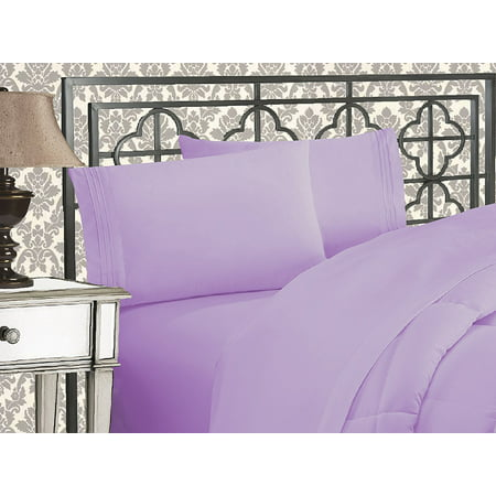 Elegant Comfort® 1500 Thread Count Egyptian Quality 2pcs PILLOW CASES - ALL SIZES AND COLORS, Queen, Lilac ()