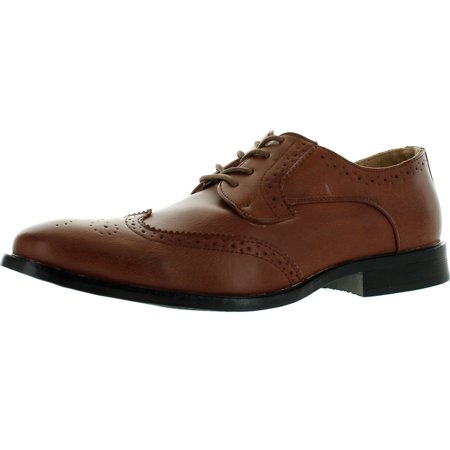 Coronado Mens Dress Shoe KEVIN-2 Classic Oxford Fashion Wing Tip Style Leather (Men Leather Fashion)
