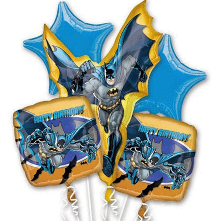 Batman Character Authentic Licensed Theme Foil Balloon Bouquet - Batman Balloon