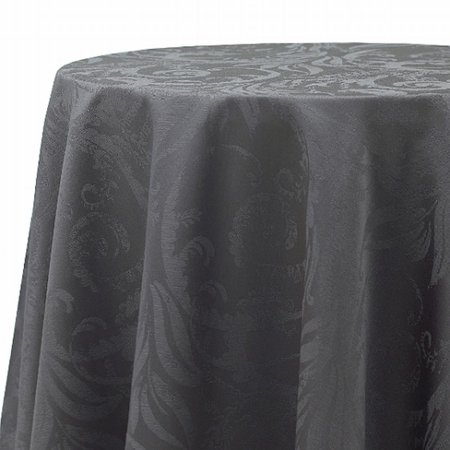 Bb b autumn scroll charcoal gray damask fabric tablecloth for Table 60x120