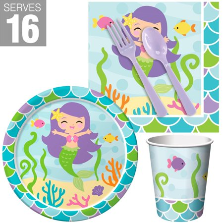 Mermaid Friends Snack Party Pack for 16 - Halloween Snacks Class Parties