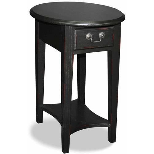 KD Furnishings Hardwood Oval Side Table