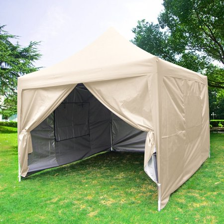 Big Sales Quictent Privacy Pyramid Roofed 10x10 Beige Mesh