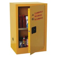CONDOR 42X496 Flammable Safety Cabinet, 16 gal., Yellow