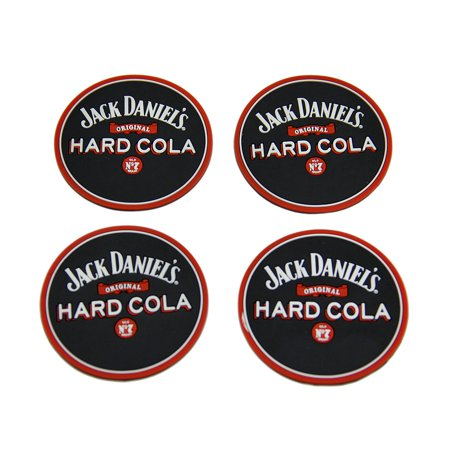 Set of 4 Jack Daniels Hard Cola Rubber Coasters Mini Beverage
