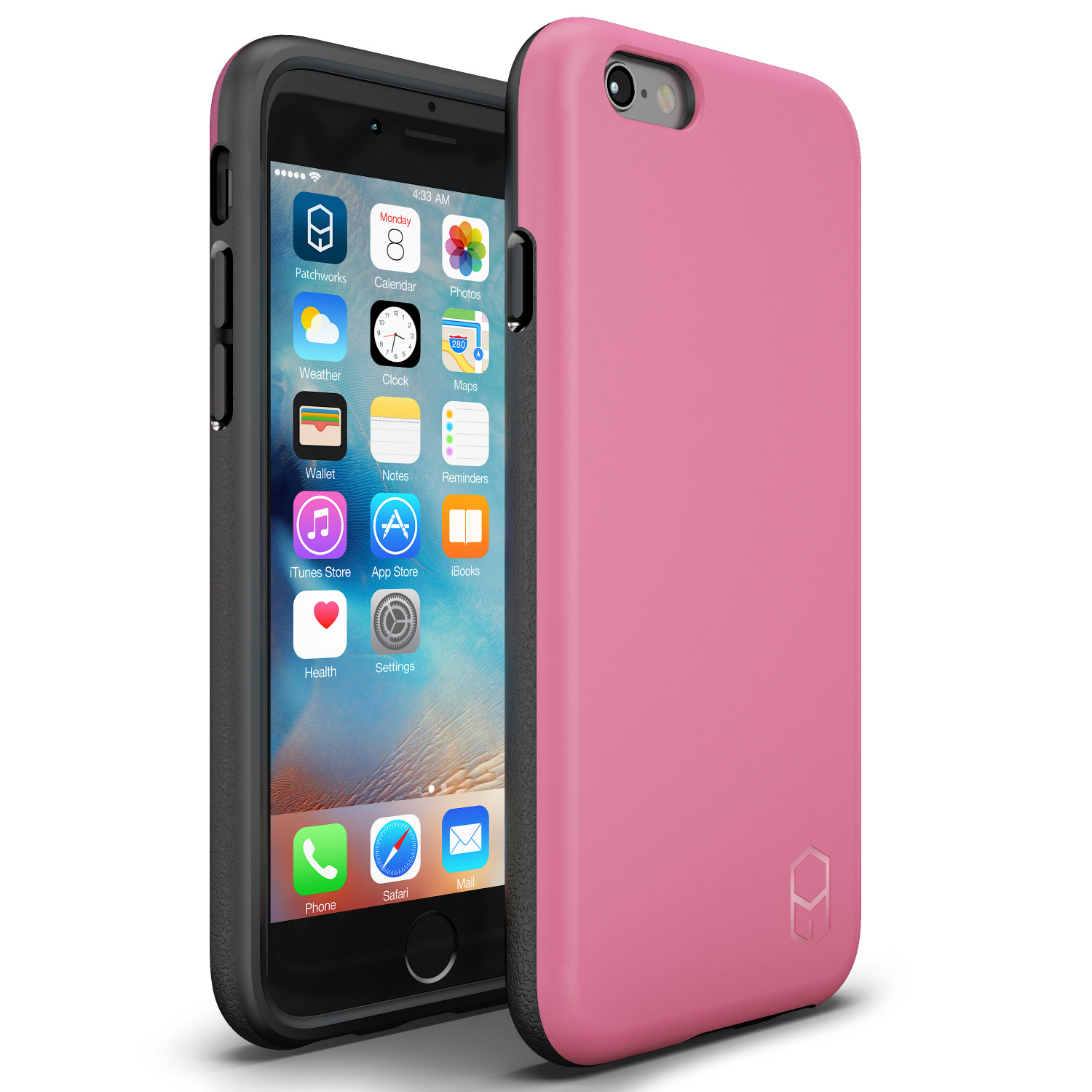 iPhone 6s Plus 6 Plus Case, Patchworks ITG Level Case Rough Side Texture Grip Drop Protection Anti-Fingerprint Matte Surface Slim Fit Solid Case for iPhone 6s Plus 6 Plus - Pink